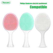 Silicone facial brush heads Replacement toothbrush heads for philips sonicare electric toothbrush replacement heads electric toothbrush replacement heads fits for philips proresults sonicare hx6730 hx6942 p hx 6013