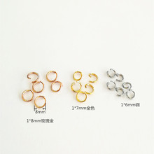 100pcs/lot 316L Stainless Steel Open Jump Rings 4 5 6 7 8 9 10MM Single Split Ring Connectors for DIY Necklace Jewelry Supplier