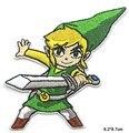 Красивая зеленая шляпа для мальчиков с мечом, легенда, новинка, утюжок на вышитой одежде, нашивка для одежды