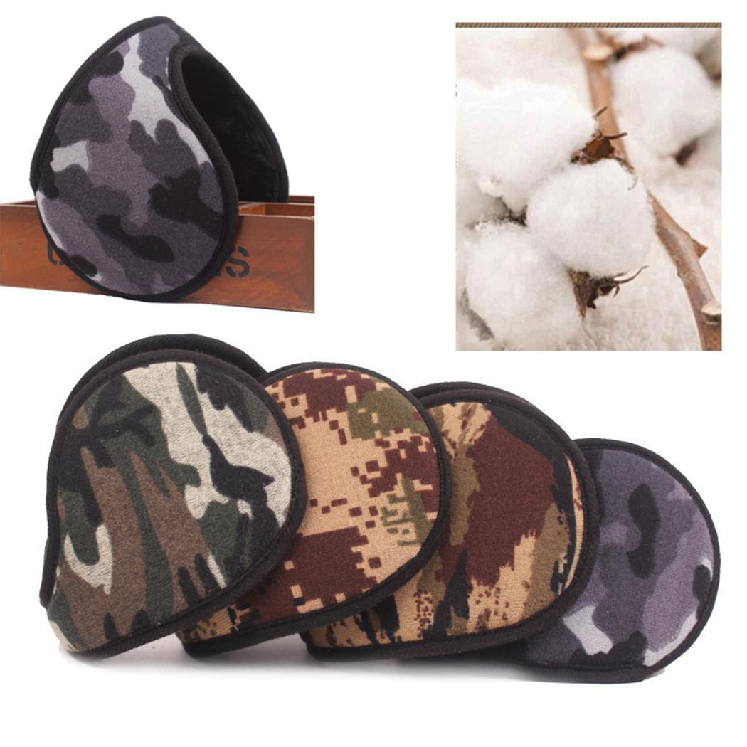 Unisex Warm Ear Muffs Camouflage Ear Warmers About 35g Covers Random For Winter Activity Cold 55-60cm Weather