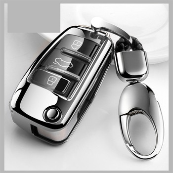 Car Styling Soft TPU Key Case Full Cover Holder For Audi A1 A3 A4 A5 Q7 A6 C5 C6 A8 R8 Auto Remote Control Shell Accessories