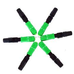 100 unidades/lotes encaixou o conector rápido da fibra ótica ftth sc/apc sm do conector rápido para catv