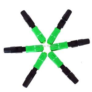 Image 5 - 200 unids/lote FTTH SC APC fibra óptica monomodo SC APC conector rápido SC APC FTTH fibra óptica conector rápido