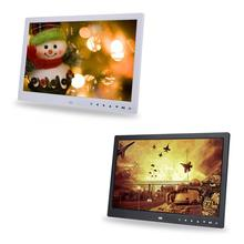 marco digital de fotos 15 Inch Digital Photo Frame HD Screen LED Touch Button Digital Picture Frame Alarm Clock MP3/4 Movie
