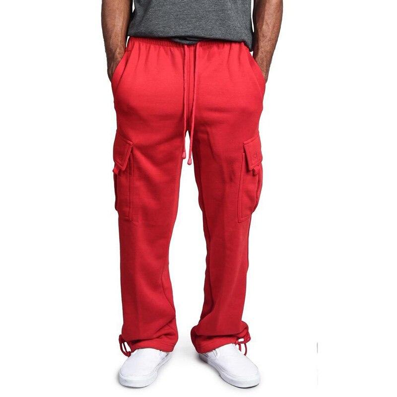 Pantalones Deportivos Pantalones De Hombres De Talla Grande Multi Bolsillos Pantalones Sueltos Para Hombre Pantalones Rectos Plano Liso Ropa De Calle Popular De Los Hombres De M 4xl A Anvas Info