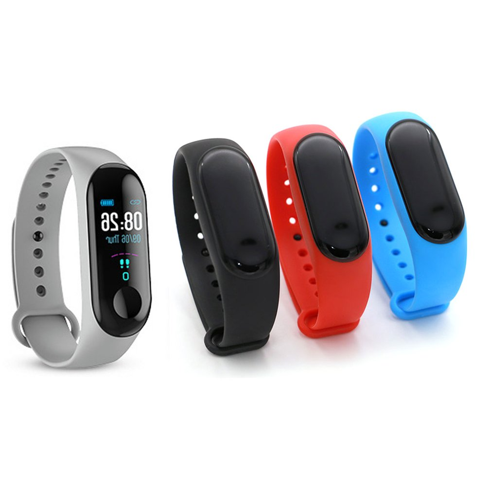 M3x Smart Watch Smart Bracelet Wristband Fitness Tracker Blood Pressure Heart Rate Fashionable Couples Watch