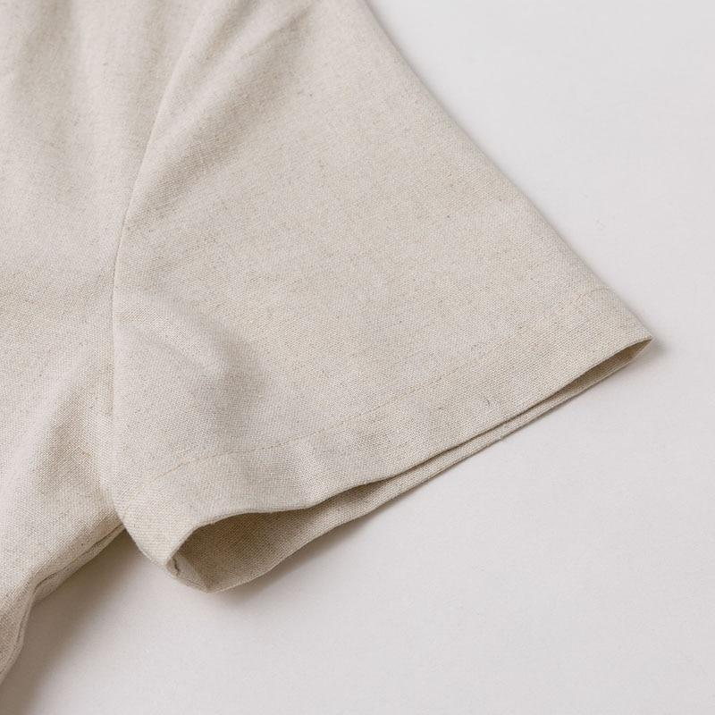 Elegant Button Belt Tie Linen Short Jumpsuit Romper 10