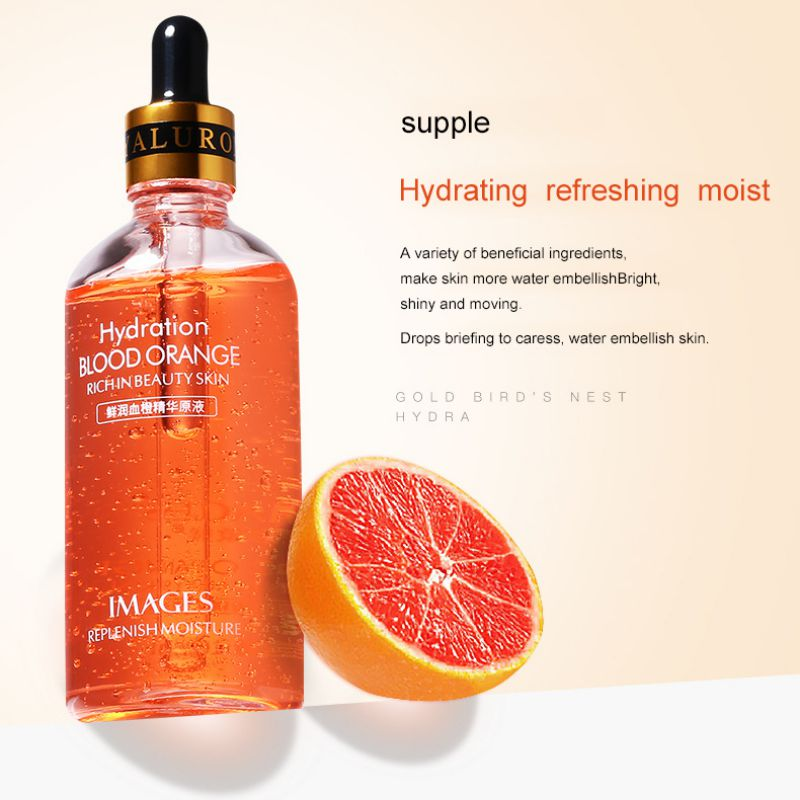 100ml Korean Vitamin E Deep Rpair Antioxidant Facial Serum Lighten melanin Skin Whitening Anti aging Natural Blood Orange liquid
