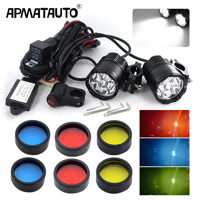 1set Motorcycle Fog Lights For BMW R1200GS ADV F800GS F700GS F650GS K1600 LED Auxiliary Fog Light Assemblie Driving Lamp 60W