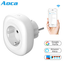 EU Wifi Smart Socket 5V USB Output with Mobile APP Remote Control can Works with Amazon Alexa Google Home for Smart home qiachip wifi smart home socket app remote control light switch work with amazon alexa google home for phone french plug socket