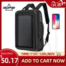 BOPAI sac à dos pour hommes, sac à dos Business Anti vol, voyage étanche, chargeur USB, sacs décole de bureau pour hommes, sac à dos pour ordinateur portable pour homme