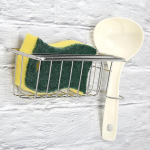 Stainless Steel Sponge Drying Holder Rack Kitchen Sink Scrubber Dish Brush Shelf for Household Kitchen Tray Accessories