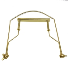 Harmonica Neck Holder 10 Holes Blues Harp Mouth Organ Stand Harmonic Rack -gold