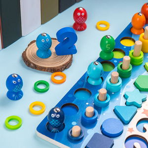 Image 5 - Kids Toys Montessori Educational Wooden Toys Geometric Shape Cognition Puzzle Toys Math Toys Early Educational Toys For Children