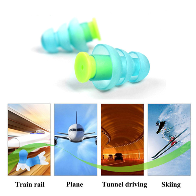 Soft Reusable Ear Plugs Noise Reduction Earplugs Protetor For Sleeping Study Travel Noise Prevent Silicone Water Sports Ear Plug