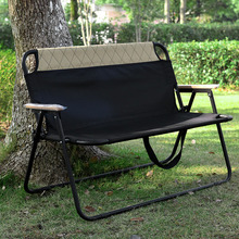 цена на Portable camping chair folding leisure back chair Oxford cloth outdoor garden chairs multifunctional double beach chair