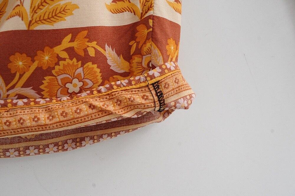 Calça boêmia feminina com laço elástico, 2