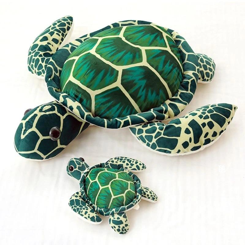 big sea turtle plush toy soft pp cotton stuffed tortoise pillow cushion kid gift r7rb