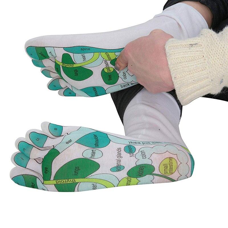 New Arrival Professional Massage Reflexology Socks Single Toe Design Far East Healing Principles Sock DM-19ING