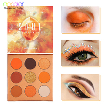 Docolor 9 Colors Eye Shadow Palette Beauty Makeup Powder Matte Shimmer Glitter Eyeshadow Palette Waterproof Pigmented Cosmetic ucanbe brand 20 colors eyeshadow makeup palette shimmer matte radiant pigmented cosmetic eye shadow powder natural sexy eye set