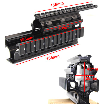 AK47 74 AKs Quad Rails Mount Handguard Rail 20mm Picatinny Side Rail Mount for AK47 74 AKs 12pcs Rail Covers Hunting Accessories free shipping 12pcs cover ak47 ak74 tactical quad rails hunting handguard rail shooting ris quad rail mount accessories