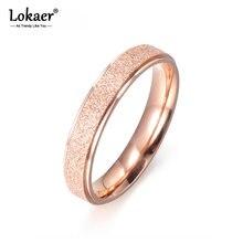 Lokaer-bagues de mariage pour femmes, bijoux à la mode, Design Simple, couleur or Rose, acier titane, fiançailles, R17059