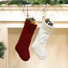 4/6 пар, Рождественский трикотаж, чулки, высшее качество, Рождественская елка, умелое производство, конфета, Подарочная сумка, подвесное украшение