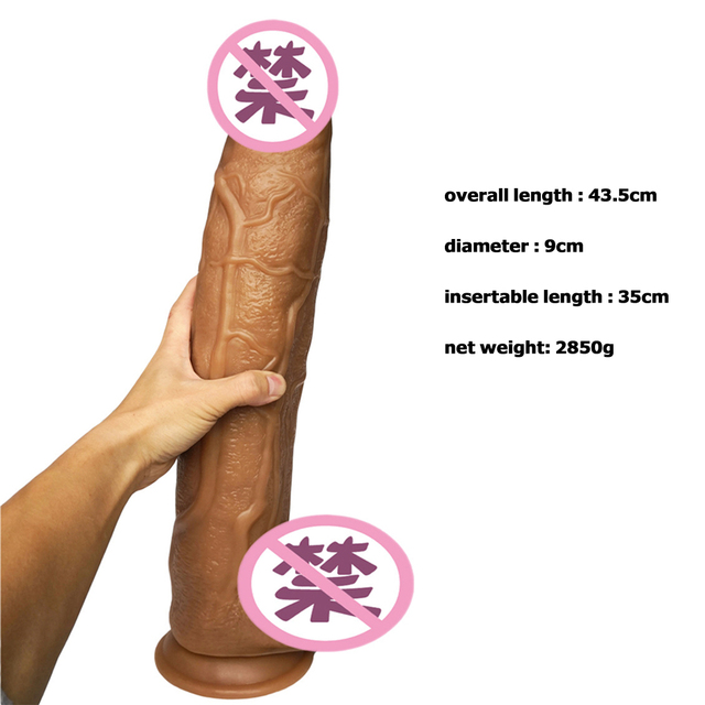 Gode Huge Dildo Horse Penis Realistic Giant Dildos Big Fake Penis With Suction Cup 43.5cm Silicone Thick Dildo For Huge Women