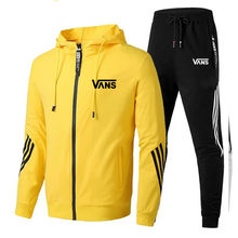 Ternos de treino dos homens casua jaqueta calças define homens com zíper casacos calças lado listrado roupas esportivas fitness musculação jogging ternos masculinos