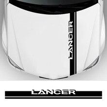 Накладка на капот автомобиля, декоративные виниловые наклейки в полоску для Mitsubishi Lancer 10 3 9