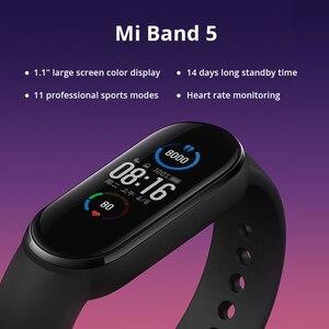 Image 4 - שיאו mi mi Band 3 4 הגלובלי גרסה חכם צמיד כושר צמיד להקת שעון 3 גדול מגע מסך הודעה קצב לב זמן Smartband