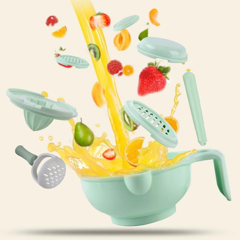 Baby Food Mills Baby Food Supplement Grinder  Manual Food Grinding Bowl  Baby Food Supplement Tool Set Multi-function