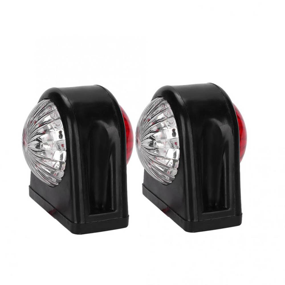 10-30V Plastic Car Truck LED Side Marker Light Rubber Double Side Indicator Lamps Red White For Trailer Lorry Van Se27
