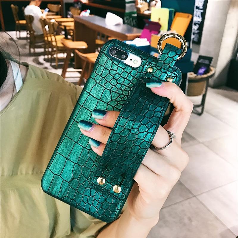 Plaine Avec Dragonne Pour iPhone XS Max tui En Cuir Dur Couverture Arri re Coque Pour