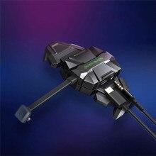 2 で 1 ポータブル高速タイプ C 充電 & 3.5 ミリメートルイヤホンジャックオーディオ変換ケーブルアダプタ xiaomi 黒サメゲーム電話
