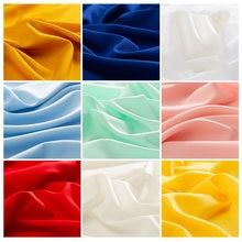 Tissu fin en mousseline de soie Vintage 75d, bon marché, pour chemises et robe, un peu transparent, 50x150cm, TJ0719
