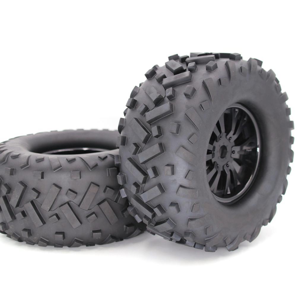 2Pcs 170mm Contour Public Word Fetal Flower Off-road Wheel Rim And Tires For 1/8 Truck Racing RC Car Accessories