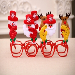 1PC Creative Christmas Items Party Glasses Frame Decoration Christmas Articles New Year Xmas Decoration Glasses Gift for Kids 3