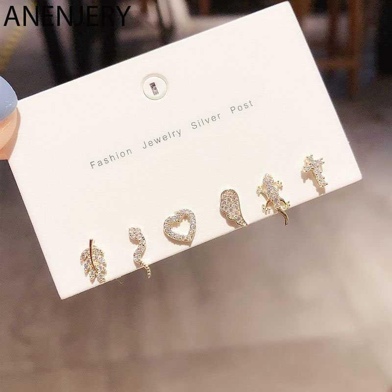 Leaf 925 sterling silver Earrings set