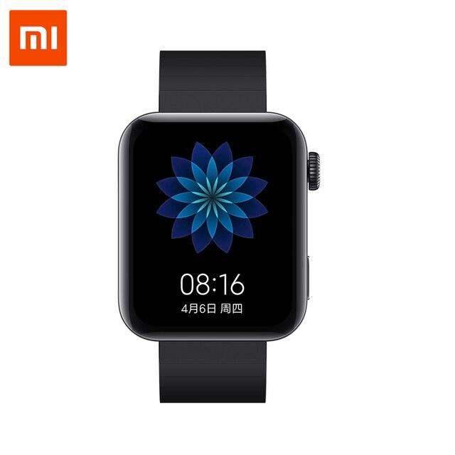 Xiao Mi Smart Mi นาฬิกา GPS NFC WIFI ESIM DRIVERS BY โทรศัพท์สร้อยข้อมือ Android นาฬิกาข้อมือกีฬาฟิตเนสบลูทูธ Heart Rate Monitor TRACK