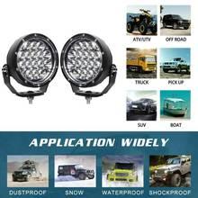 9in Waterproof LED Work Light Spotlight Headlight Bulbs for Off-Road Suv Boat 4X4 Jeep Truck Cars LANTSUN