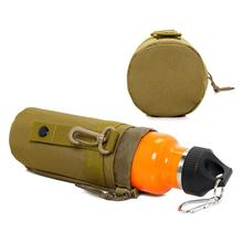 Outdoor Military Pouch Camping Water Bottle Bag Open Top Survival Kettle Holder Polyester Waterproof Travel Kits outdoor tactical military water bottle bag kettle pouch holder carrier