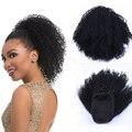 Афро кудрявый парик на шнурке для конского хвоста афроамериканский короткий синтетический накладной парик на клипсе для наращивания волос...