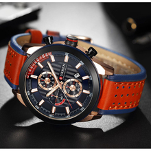 2019 Luxury Quartz Mens Watch Leather Sports Waterproof Men Erkek Kol Saati Male Clock CURREN Montre Homme