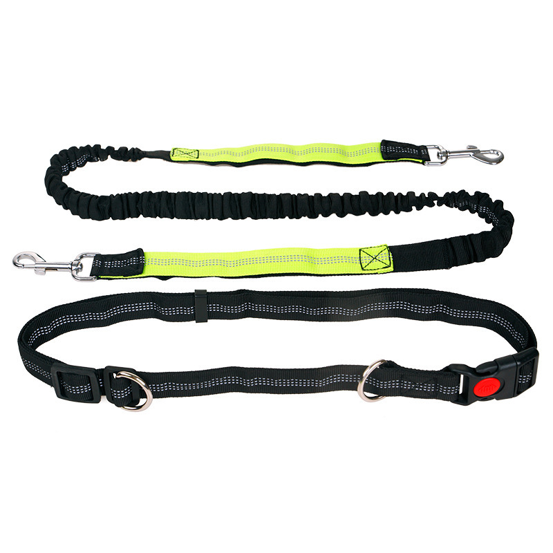 Running Reflective Hand Holding Rope Abdominal Exercising Band Nylon Dog Rope Sports Pet Supplies Dog Traction Rope