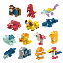 Assembled Mini Building-Blocks Early-Childhood-Toys Particle Animal Educational DIY Large