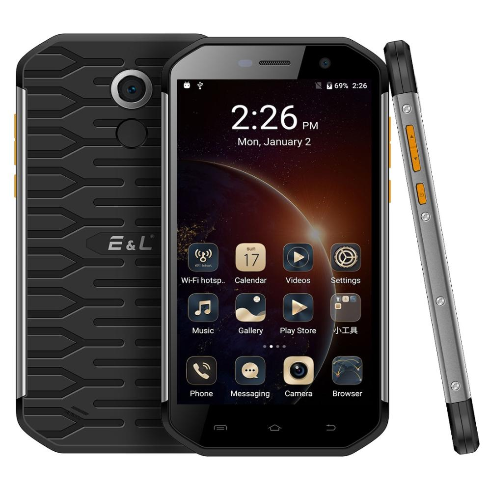 KXD E&L S60 IP68 Rugged Phone <font><b>Android</b></font> <font><b>7.0</b></font> MTK6753 Octa Core 3GB RAM 64GB ROM 5.5