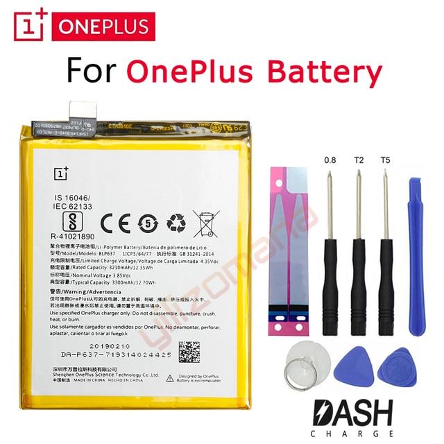 אחד בתוספת המקורי החלפת סוללה עבור OnePlus 3 3T 5 5T 2 1 BLP571 BLP597 BLP613 BLP633 BLP637 עבור 1 + 6 6T 7 פרו סוללות