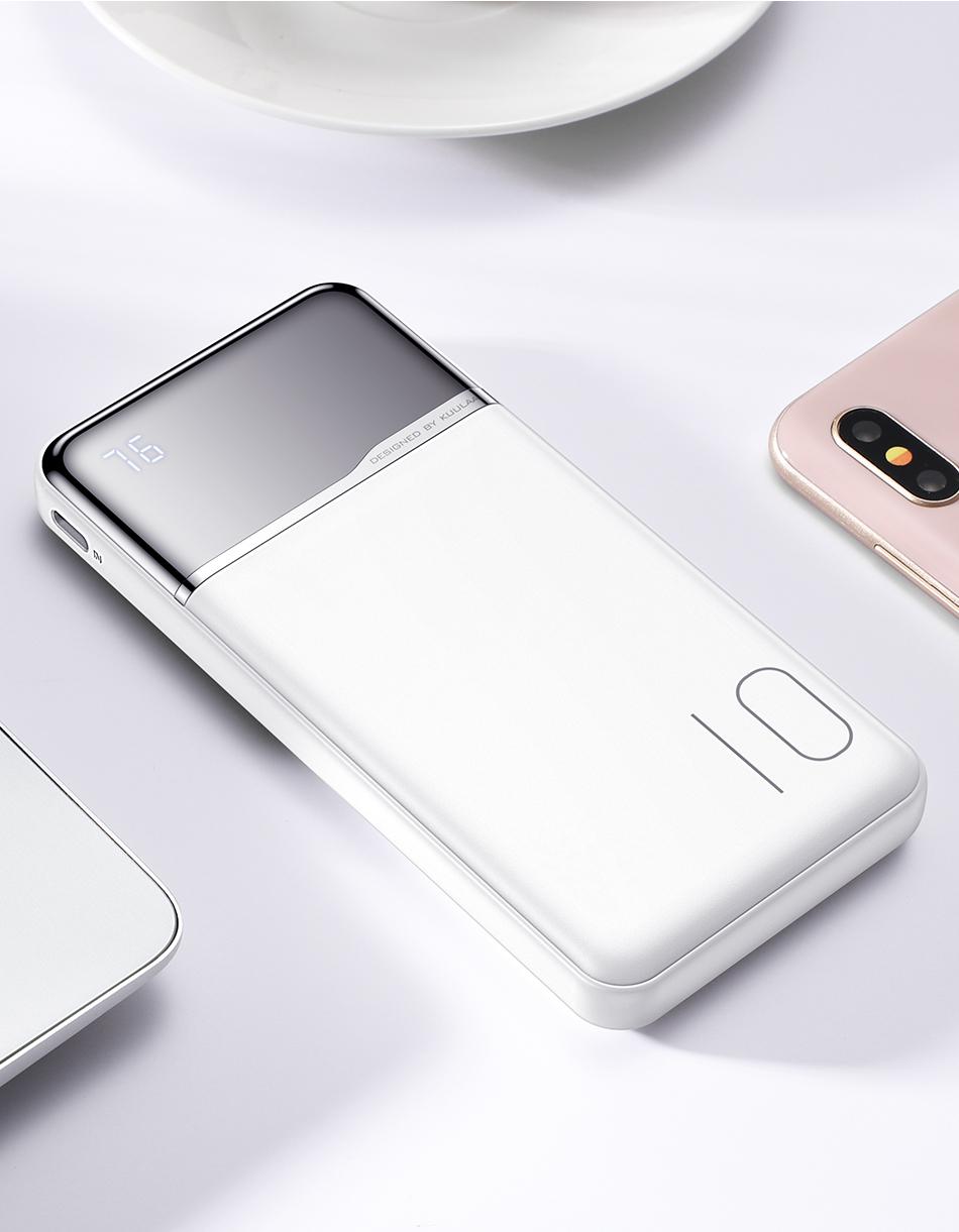KUULAA Power Bank 10000mAh Portable Charging PowerBank 10000 mAh USB PoverBank External Battery Charger For Xiaomi Mi 9 8 iPhone 16