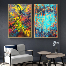 Painting Canvas Wall Decor Art Picture Canvas Print Painting Abstract Pattern Blue Yellow  for Living Room Home Decor No Frame painting canvas wall decor art picture canvas print painting abstract pattern blue yellow for living room home decor no frame